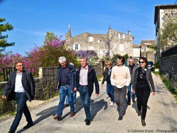 S. Buis se rend sur le chantier du VD en compagnie des élus